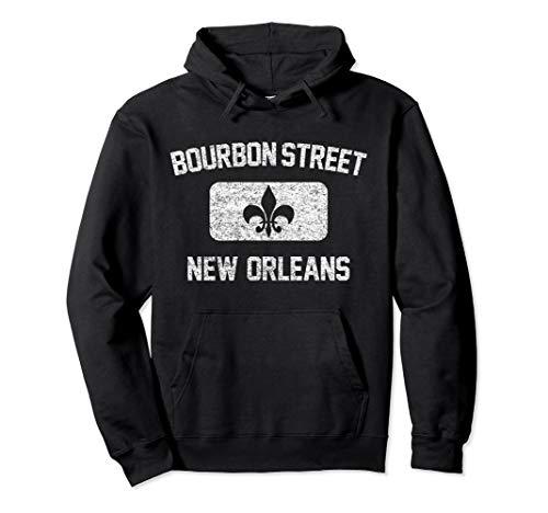 Bourbon Street New Orleans Hoodie - Gym Style Distress Print ()