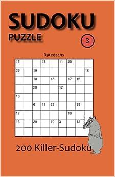 Book Sudoku Puzzle 3: 200 Killer-Sudoku