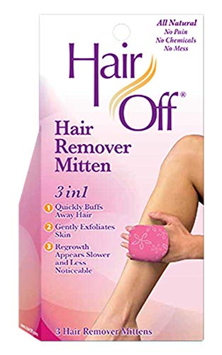 Hair Off Mitten, 3 hair remover mittens (Pack of 4)
