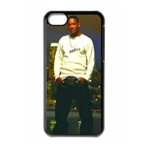 Great! Hollywood Super Action Actor Will Smith Cool Durable Hard Plastic Cover Case (HD Image) For Iphone 5c