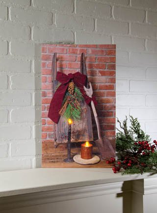 Lighted Let Christmas Live in Your Heart Canvas
