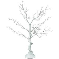 "Sziqiqi 30"" Tall White Wedding decorations Tree, Folding Fake Tree, Wedding Centerpiece/Indoor Tree Decoration (Fake tree)"