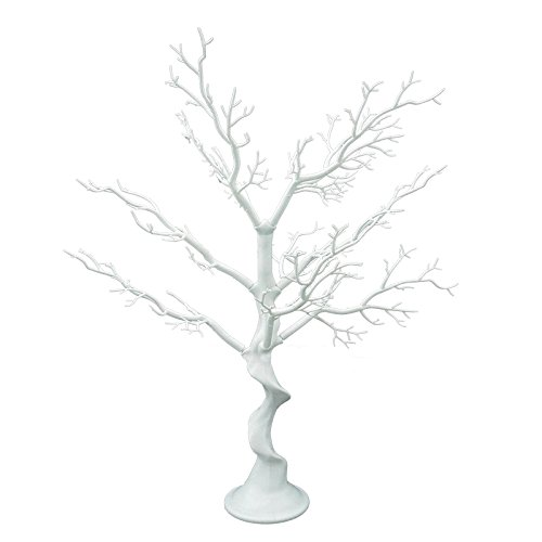 "Sziqiqi 30"" Tall White Wedding decorations Tree, Folding Fake Tree, Wedding Centerpiece/Indoor Tree Decoration (Fake tree)"
