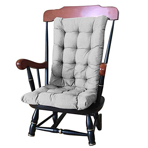 Garden High Back Chair Cushion 120 x 50 x 8 cm Soft Outdoor Recliner Garden Chair Pad for Chairs Cushion with Backrest for Chair (Grey)
