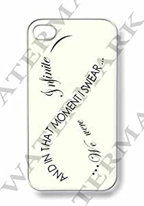 Apple iPhone 4 4G 4S Infinity Inspiration Quote Vintage by Case Cartel WHITE Sides Slim HARD Case Skin Cover Protector Accessory Vintage Retro Unique AT&T Sprint Verizon Virgin Mobile