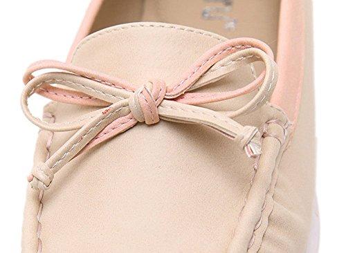 Plaid & Plain Womens Preppy Sweet Tacco Tondo Slip On Pumps Scarpe Scarpe Beige
