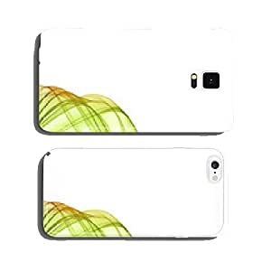 Colorful smoke on the white background. cell phone cover case Samsung S5