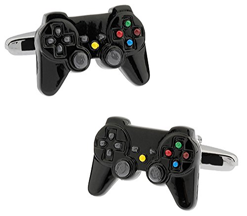 Ashton and Finch Black Games Console Controller Cufflinks in a Free Presentation Box. Novelty Technology Gaming Theme Jewellery