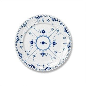 Blue Fluted Full Lace 7.5'' Salad / Dessert Plate by Royal Copenhagen