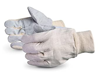 Superior 650Q Economy Version Leather Face Patch-Palm Glove with Knit Wrist, Work (Pack of 1 Dozen)