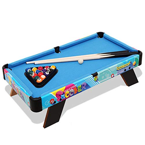 Tablecloth Triangles Pool (Mini Tabletop Billiard Game Set, Billiards Game Includes Game Balls, Sticks, Chalk, Brush and Triangle Portable and Fun for The Whole Family,Blue)