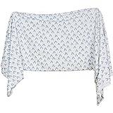 Extra Soft Knit Swaddling Receiving Blanket Sweet Peaks by Village Baby