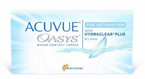 Acuvue Oasys for Astigmatism 2-Wochenlinsen weich, 6 Stück / BC 8.6 mm / DIA 14.5 / CYL -2.25 / Achse 90 / -0.25 Dioptrien