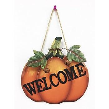Y&K Decor Pumpkin Welcome Sign (Antique style)