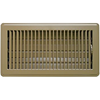 Accord ABFRBR612 Floor Register with Louvered Design, 6-Inch x 12-Inch(Duct Opening Measurements), Brown