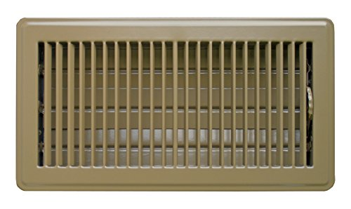 - Accord ABFRBR612 Floor Register with Louvered Design, 6-Inch x 12-Inch(Duct Opening Measurements), Brown