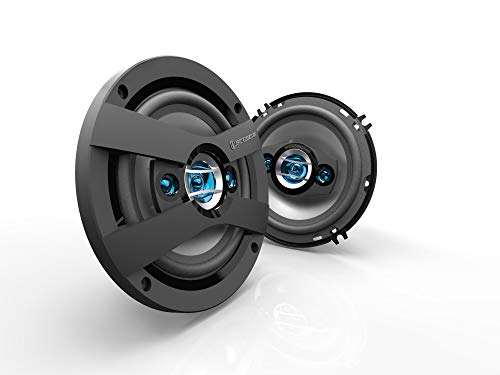 SCOSCHE HD6504 4-Way HD Multi-Fit Frame Design Speaker Set with 200 Watts Peak/50 Watts RMS Per Speaker and Protective Grills