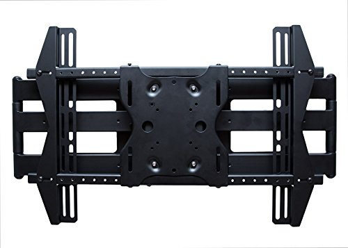 SunBriteTV Dual Arm Articulating (Full Motion) Outdoor Weatherproof Mount for 37'' - 80'' TV Screens & Displays - SB-WM-ART2-L-BL (Black)