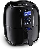 ノンフライヤー Housmile 電気フライヤー エアフライヤー 油無し 揚げ物 大容量2.2L LEDデジタル表示 タッチパネル 40-400℉(60-204℃)温度調節 タイマー機能 過熱保護