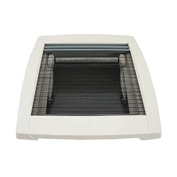 413u4PFgcTL MPK VisionStar M pro getönte Klarglas Dachluke Dachfenster Dachhaube 40 x 40 cm in perlweiß