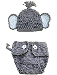 2pcs Newborn Baby Elephant Stretchy Knit Photo Baby...