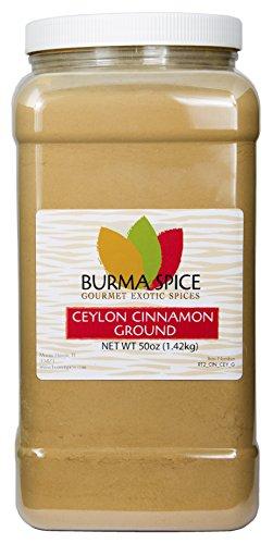 Ground Ceylon Cinnamon | Very freshly ground | Highest Premium Grade | 100% Pure with no additives | Kosher Certified (50oz) by Burma Spice (Image #7)