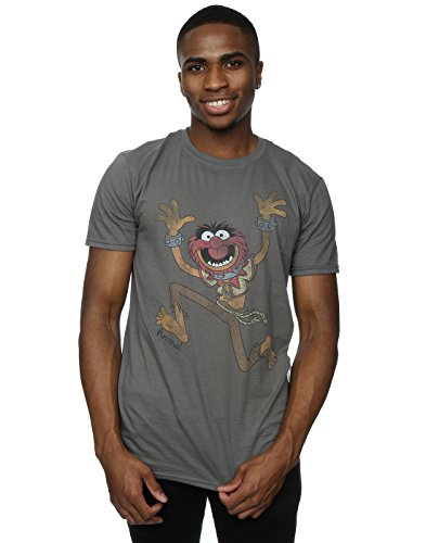 Disney Men's The Muppets Classic Animal T-Shirt Large Charcoal