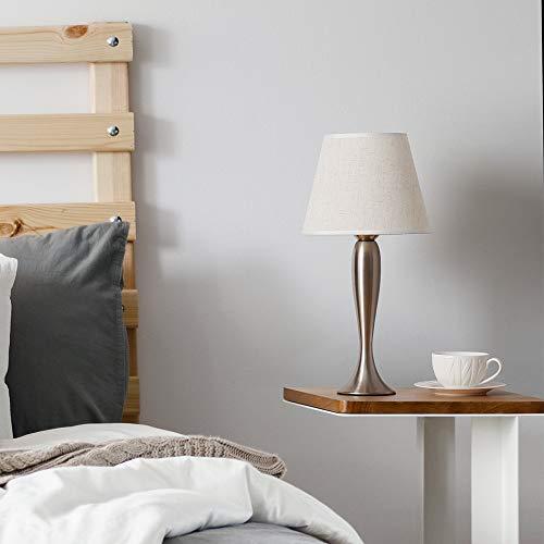 Mini Table Lamps Set Of 2 Modern Sand Nickel Bedside