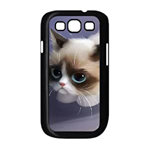 Custom Cover Case with Hard Shell Protection for Samsung Galaxy S3 I9300 case with Cute cartoon cat lxa#971342