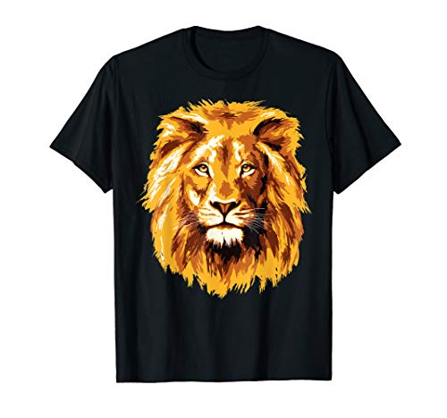 Lion Face - Lion Face T-Shirt Zoo Animal T Shirt Zoo Keeper Gift Tee