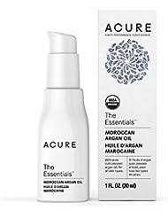Acure Organics - The Essentials Moroccan Argan Oil, Organic Facial Oil for Dry, Sensitive Skin - 1 oz (2 Pack)