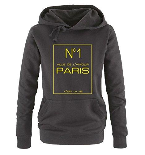 De Giallo Donna Neon Hoodie Taglia Comedy L'amour No1 S Shirts Xl Sweater Cappuccio Nero Ville qZYWWRtX6