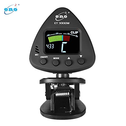 Green-Valley113 - Eno ET 3000W Clip-on Tuner for Wind Instruments Flute Tuner Supports Mic & Clip-on Tuning Modes for Saxophone Clarinet Trumpet