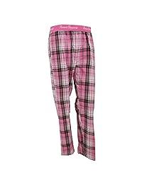 Womens/Ladies Check Patterned Cotton Pyjama Bottoms/Lounge Pants
