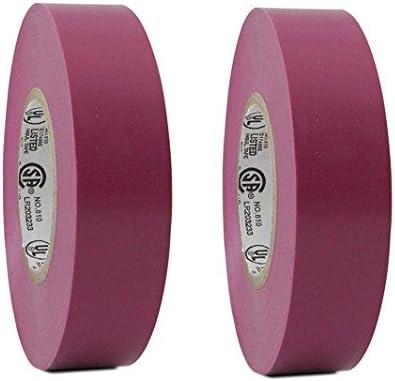 "2 Rolls Pink Vinyl PVC Electrical Tape 3//4/"" x 66/' Flame Retardant Free Shipping"