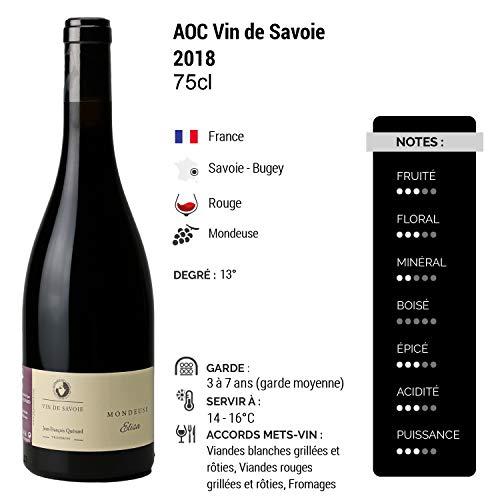 Vin-de-Savoie-Mondeuse-Elisa-Rouge-2018-Domaine-Jean-Francois-Quenard-Vin-AOC-Rouge-de-Savoie-Bugey-Cepage-Mondeuse-Lot-de-6x75cl