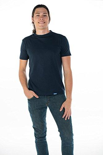 ONNO Men's Pima T-Shirt (Navy Blue, - Pima T-shirt 100% Cotton