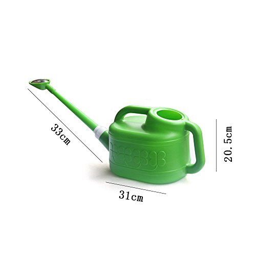 Calunce 6 L Dual-Use Long Spout Watering Can ,detachable spout ,More Convenient,Green
