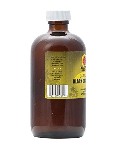 Tropic Isle Living Jamaican Black Castor Oil 8 oz - Glass Bottle by Tropic Isle Living (Image #1)
