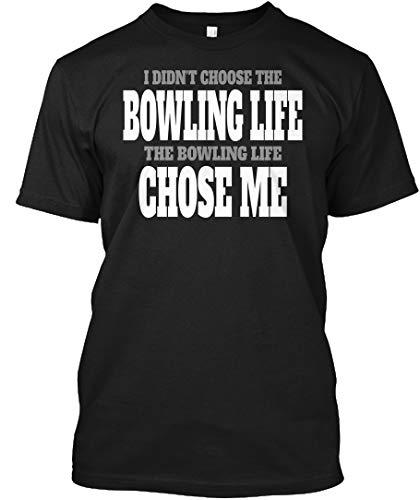 - I Didnt Choose The Bowling Life The. 2XL - Black Tshirt - Hanes Tagless Tee