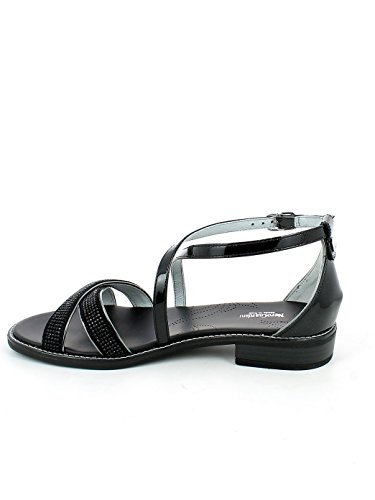 Femme Brides Nero Noir Giardini À Chaussures x77aqI