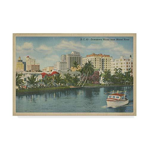 (Trademark Fine Art Miami Beach VIII by Unknown, 16x24-Inch)