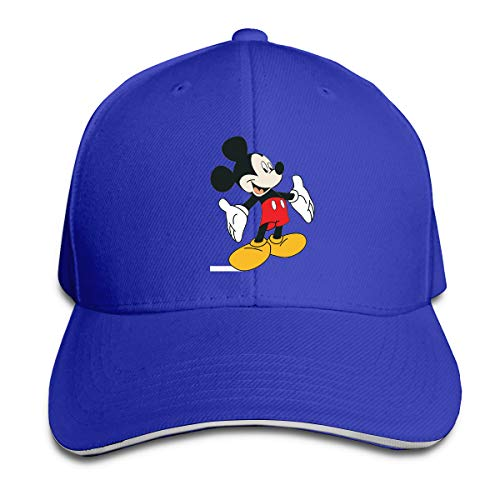Aiguan Cartoon Mickey Mouse Cap Unisex Low Profile Cotton Hat Baseball Caps Blue]()