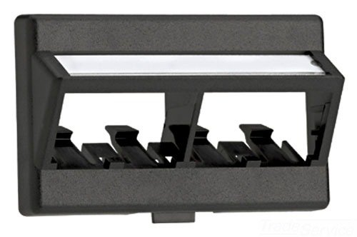 - Panduit CFFPLA4BL Angled 4-Port Modular Furniture Faceplate, Black