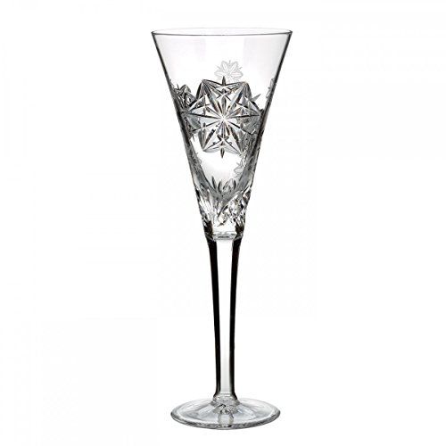 Waterford Snowflake Wishes Peace 10-in Champagne Crystal Flute Glass