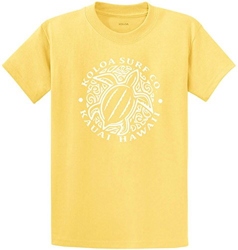 Koloa Surf Youth Honu Turtle Heavyweight Tee-XL-Yellow/w