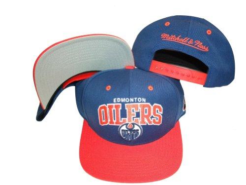 - Edmonton Oilers Blue/Orange Two Tone Plastic Snapback Adjustable Plastic Snap Back Hat / Cap