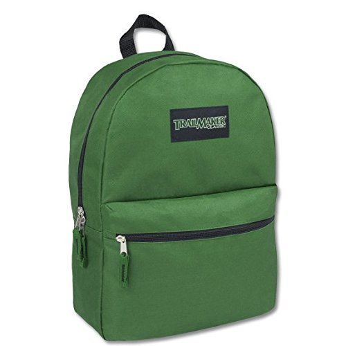 17 Trailmaker Backpack Bookbag,One Size,Green by Trail maker (Image #1)
