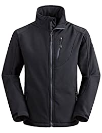 Wantdo Men's Softshell Jacket Outdoor Windproof Sports Outerwear