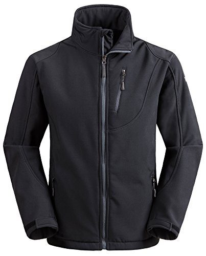 Wantdo Men's Windproof Softshell Jacket Insulated Spring Autumn Outerwear